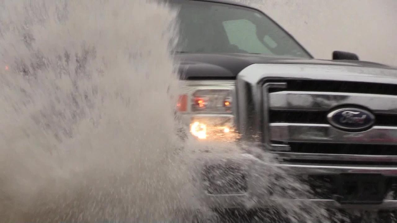Streets flooded as remnants of Hurricane Rosa move over Arizona