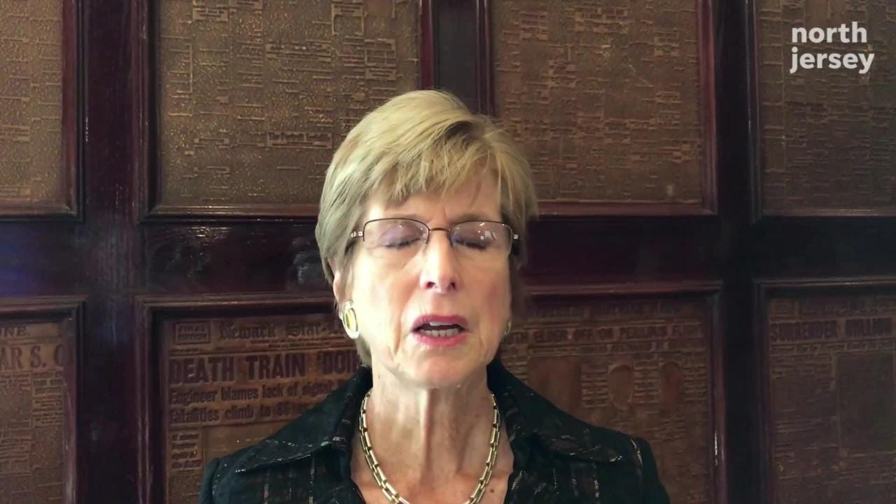 Former NJ Gov. Christine Todd Whitman, co-chair of the National Task Force on Rule of Law & Democracy, describes ethics reform proposals at the National Press Club on Oct. 2.