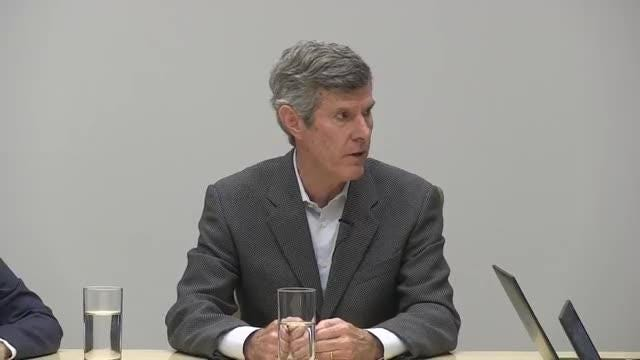 Fred Hubbell, Democratic candidate for governor, meets with the Register's editorial board.