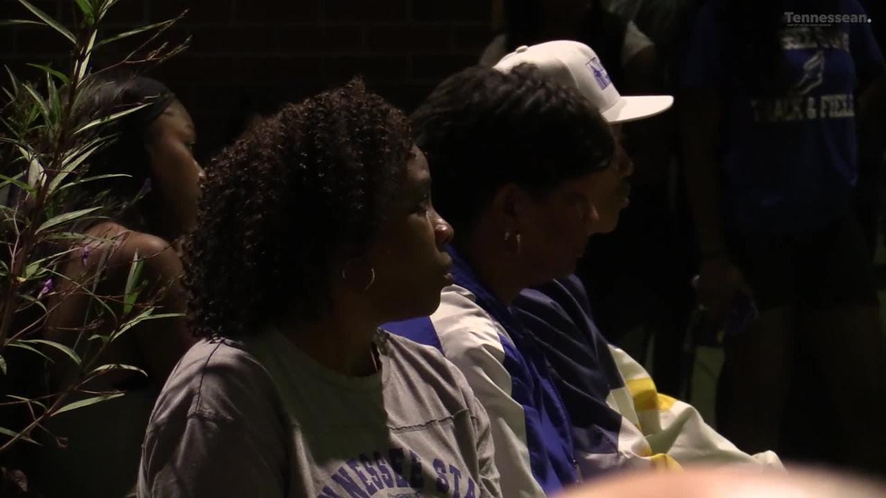 Student leaders at Tennessee State held a vigil for Christion Abercrombie, a TSU football player injured in the game against Vanderbilt.