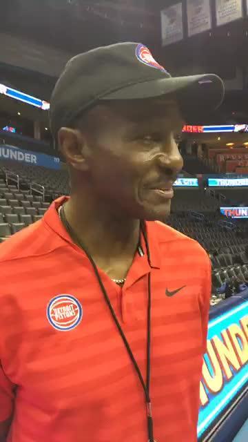 Detroit Pistons coach Dwane Casey speaks to the media before the preseason opener against the Thunder on Wednesday, Oct. 3, 2018, in Oklahoma City.