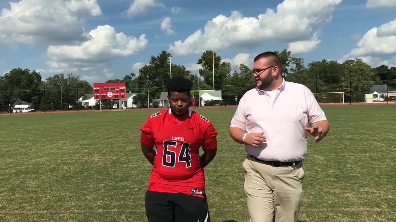 """In a new """"100 yards"""" Delmarva Now reporter Ricky Pollitt talks with JMB senior and offensive lineman Zion Rivera ahead of this Friday's big game."""
