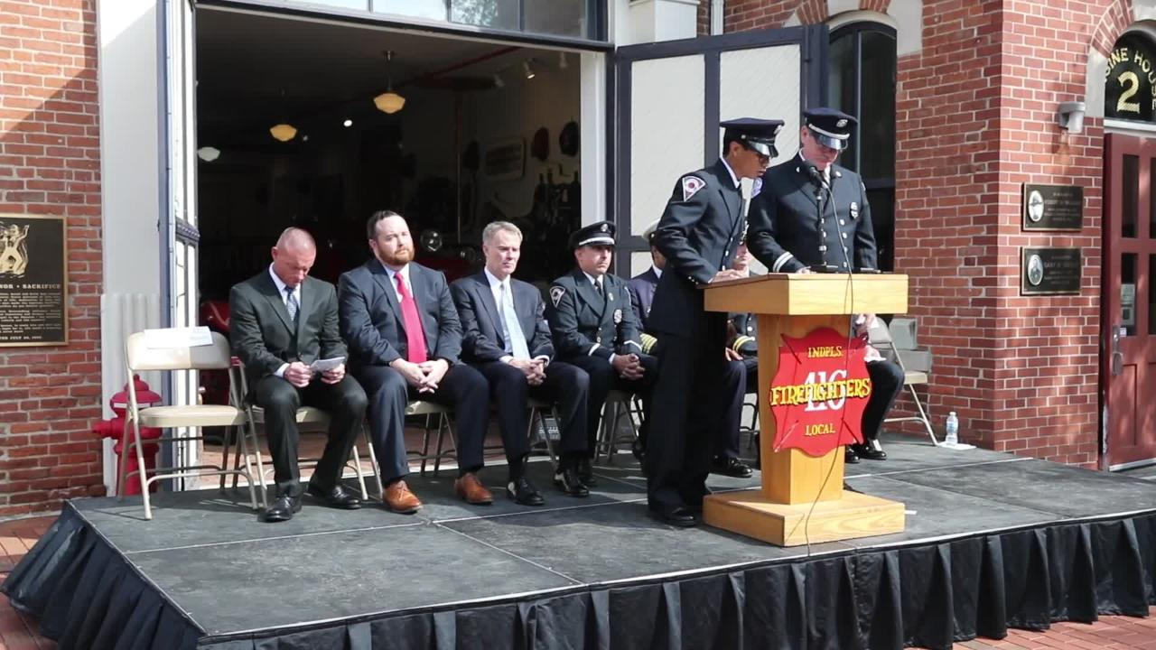 Sights and sounds from the 22nd Annual Reading of the Names of fallen firefighters Memorial Service on Wednesday, Oct. 3, 2018.
