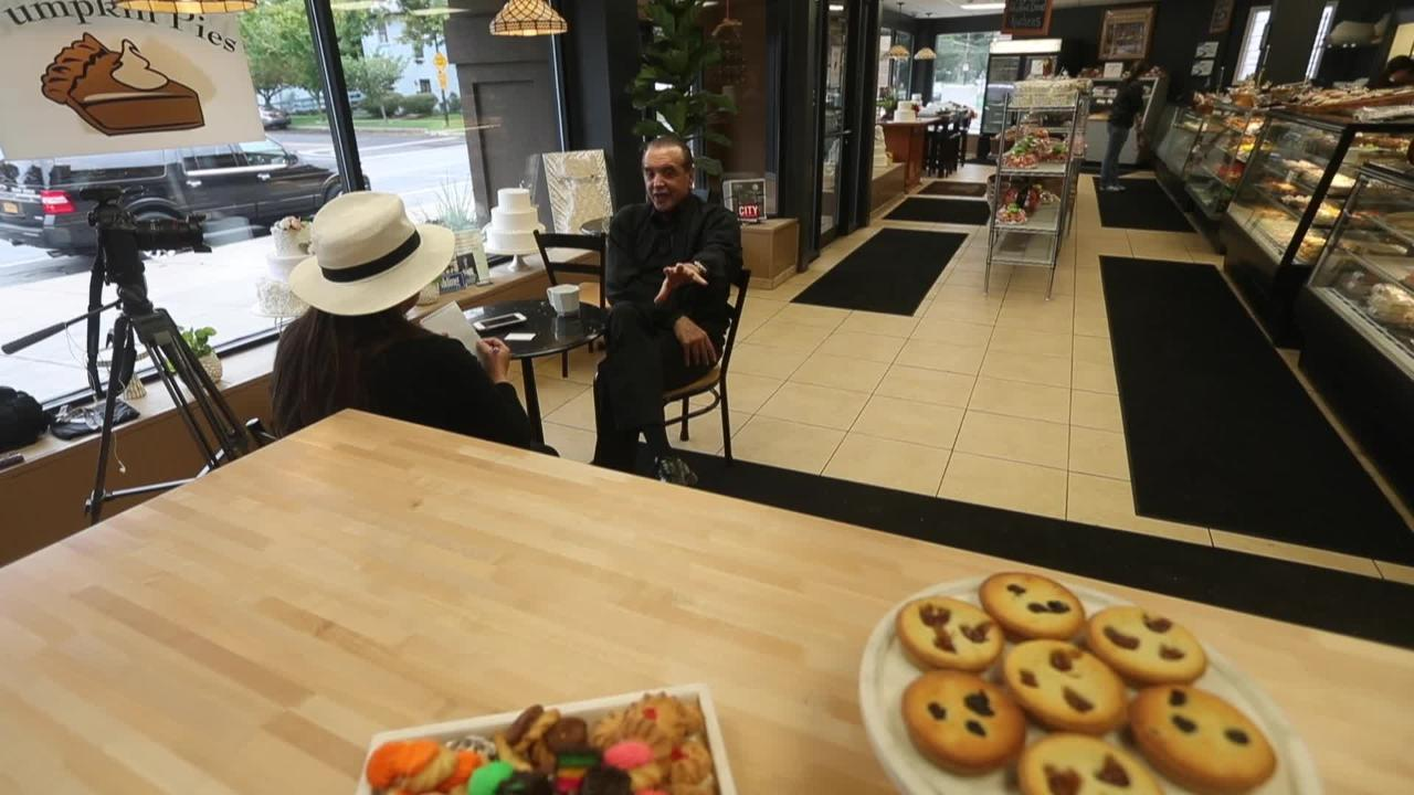 Chazz Palminteri brings his 'A Bronx Tale' to Rochester in musical form. We catch up with him at Italian bakery Savoia Pastry Shoppe. (Oct. 3, 2018)