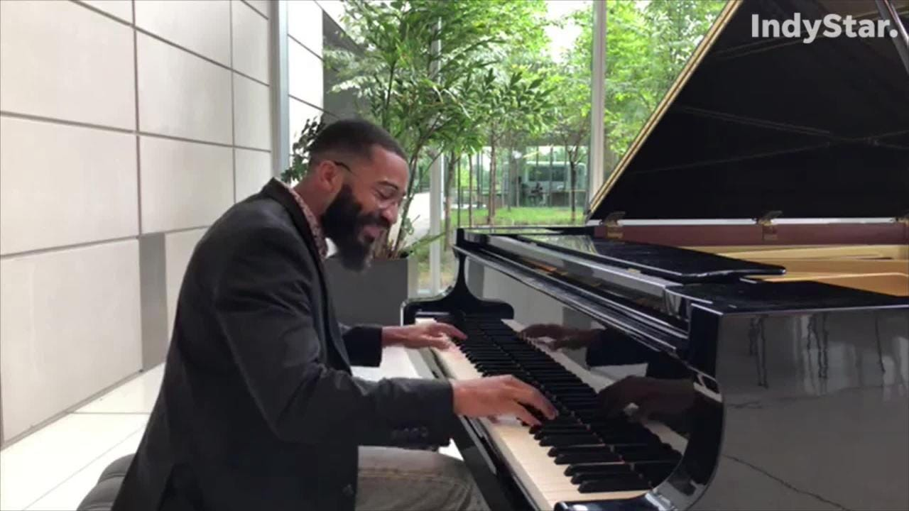 Kenny Banks Jr. is the first of five jazz-pianist finalists to come to Indianapolis to compete to win the 2019 American Pianists Awards.