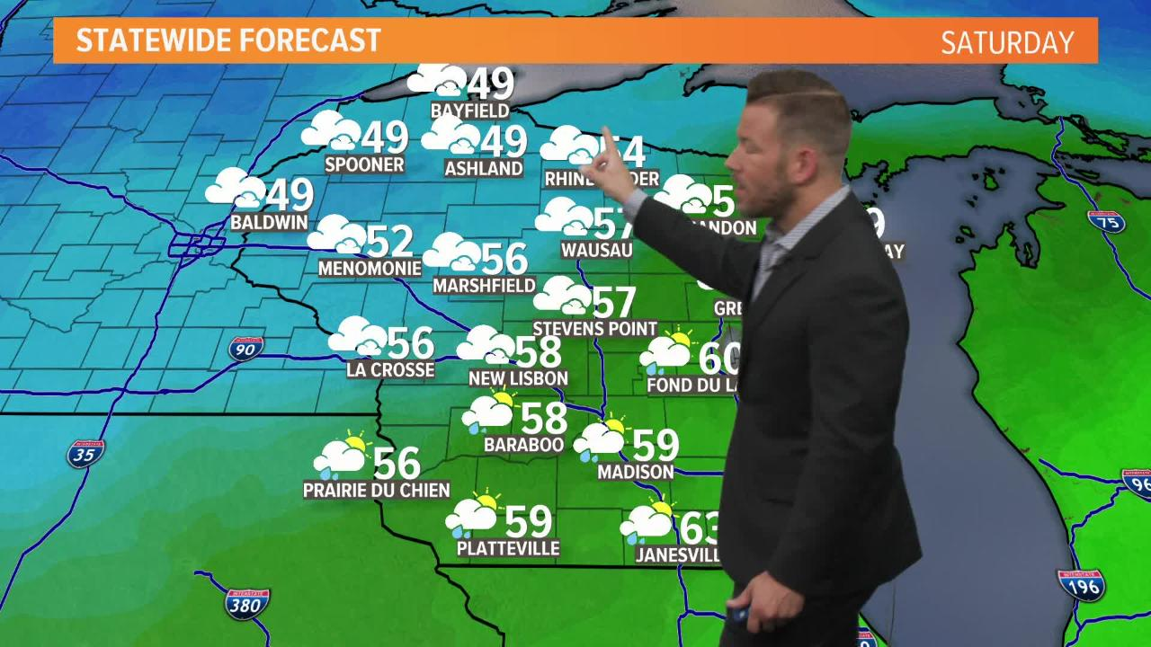 Wisconsin weather forecast for Friday, Oct. 5