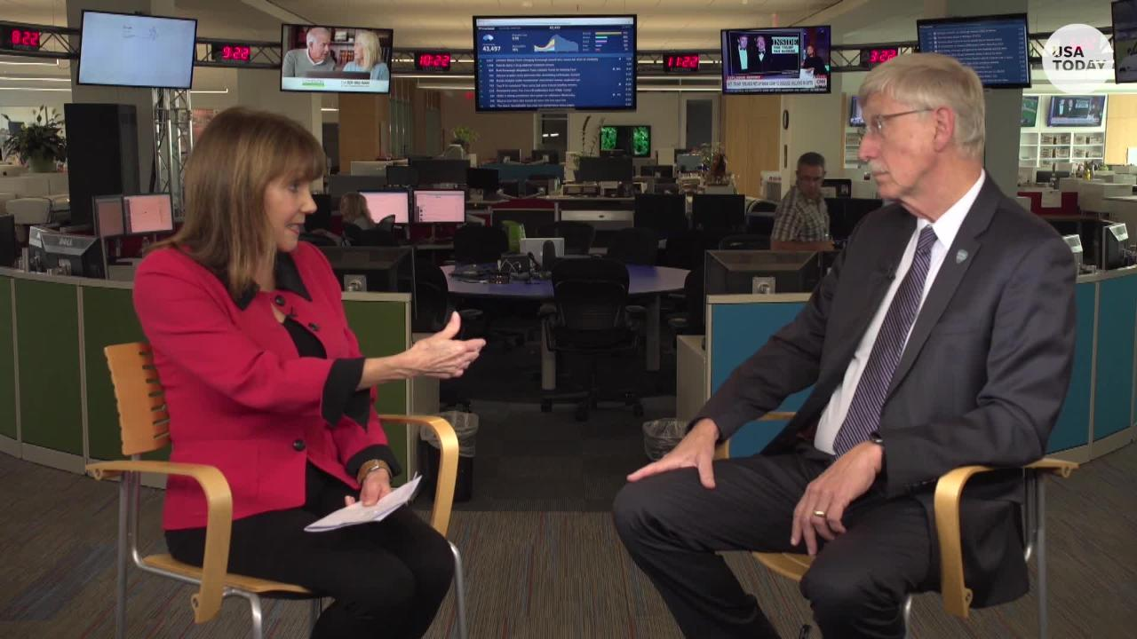 National Institutes of Health Director Francis Collins talks addiction, possible cure for sickle cell, women in science with reporter Jayne O'Donnell.