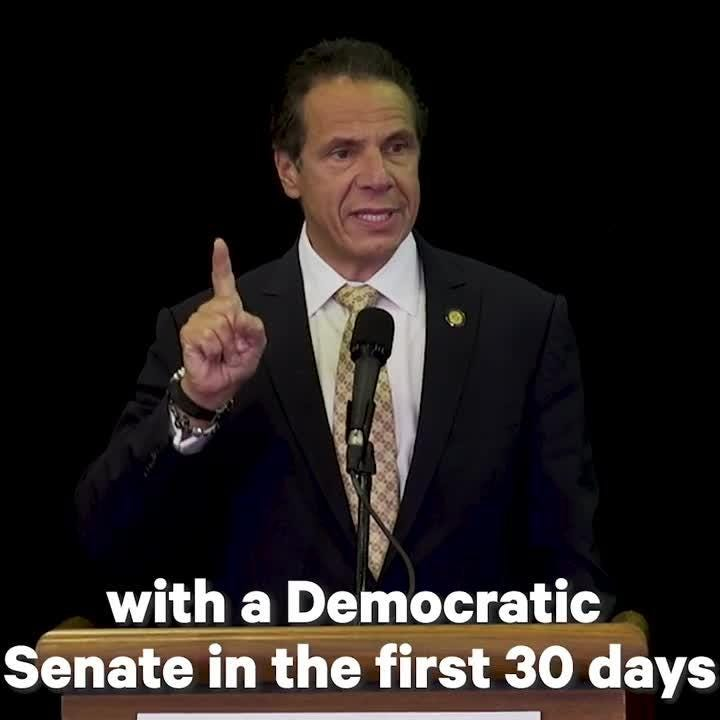 Gov. Andrew Cuomo spoke Friday, Oct. 5, in Peekskill at a campaign event and pledged to codify Roe v. Wade into NY law if elected and Democrats win the Senate.  Video provided by Cuomo's campaign
