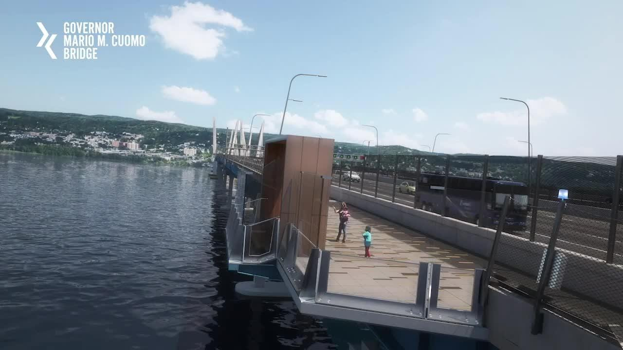 An animation of the Gov. Mario M. Cuomo Bridge walking and biking path released by the state on Sunday, Oct. 7, 2018