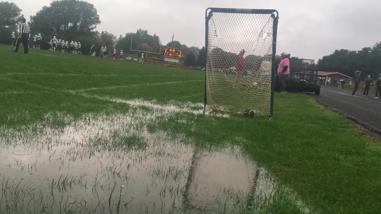 A muddy sideline gave way to a victory celebration for 7-0 PCM of Monroe