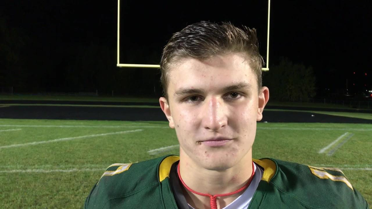 Jake Akerman discusses Sauk Rapids' 34-6 victory over St. Cloud Tech.