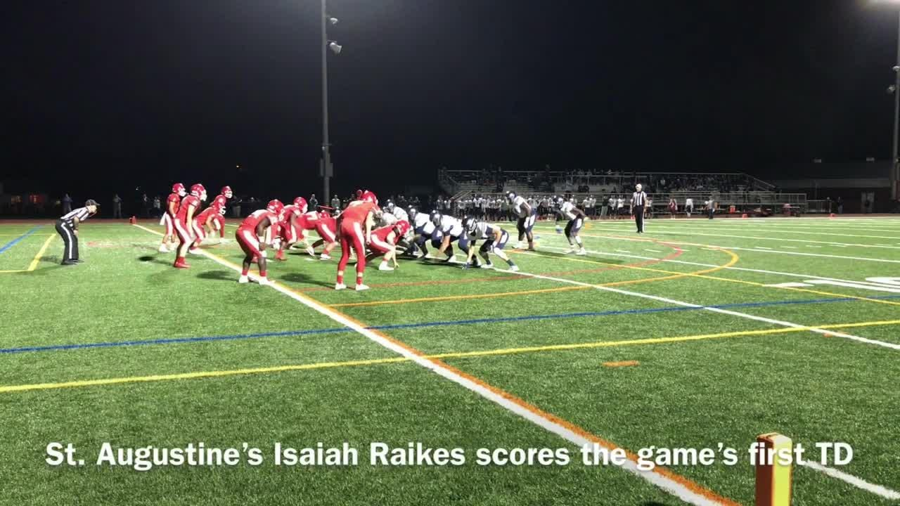 St. Augustine earned a 28-0 victory over Rancocas Valley on Friday night