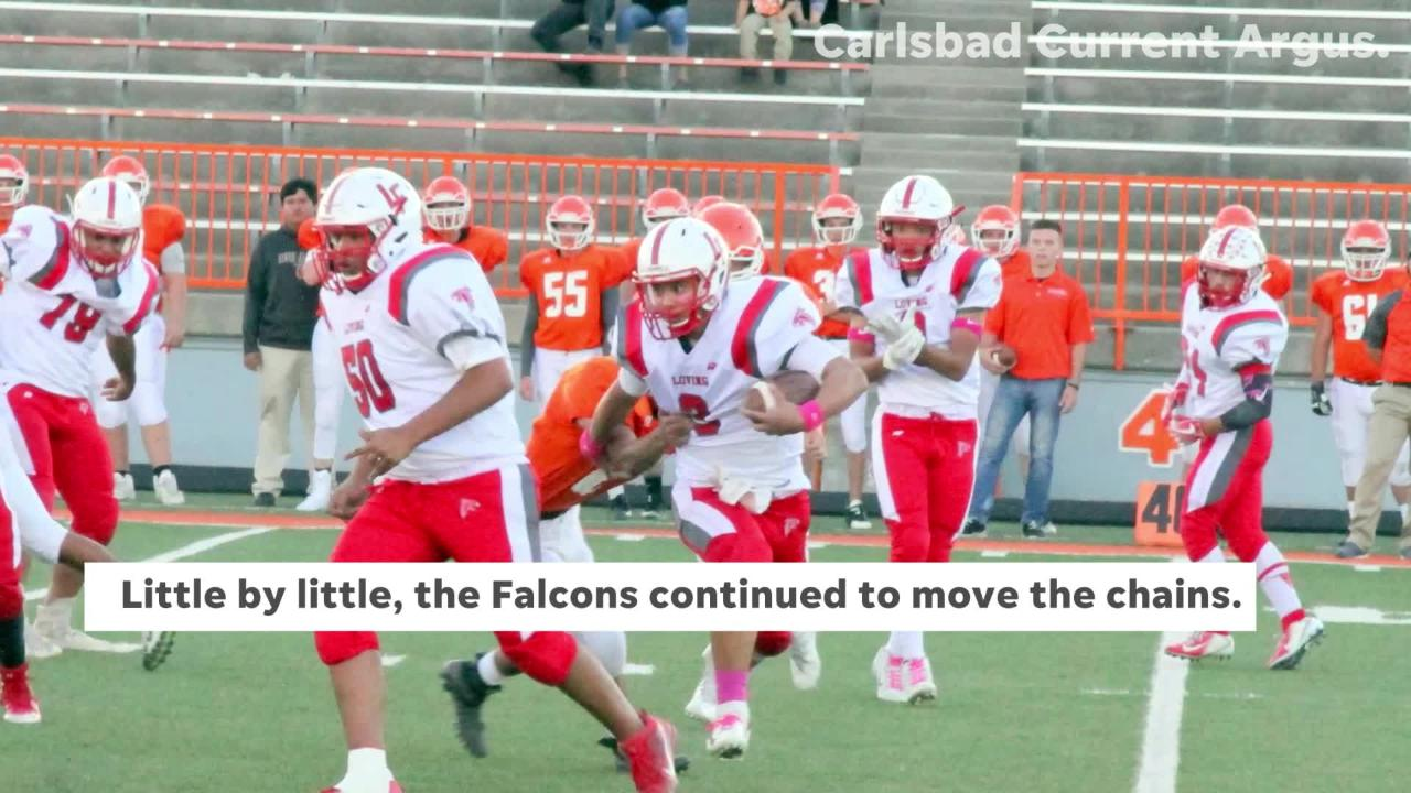 Video highlights of Loving's game against Artesia, focusing on Loving's 99-yard drive in the third quarter.