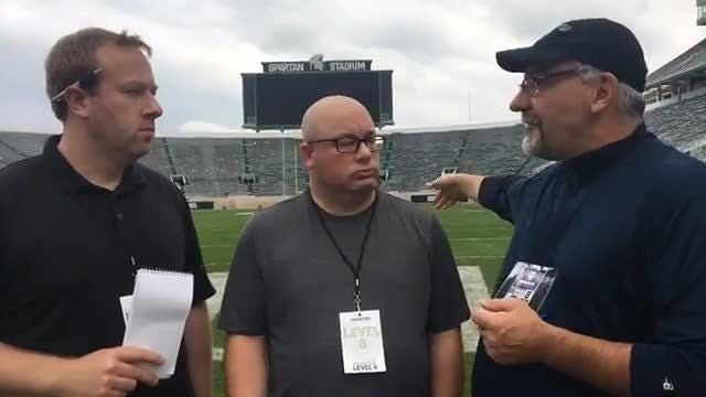 Free Press sports writers Chris Solari and Jeff Seidel, and LSJ's Graham Couch dissect the Spartans' 29-19 upset loss to Northwestern, Oct. 6, 2018.