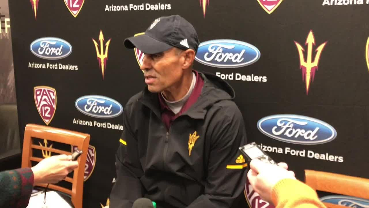 ASU coach Herm Edwards discusses his key fourth-down decision that backfired in a loss to Colorado on Saturday.