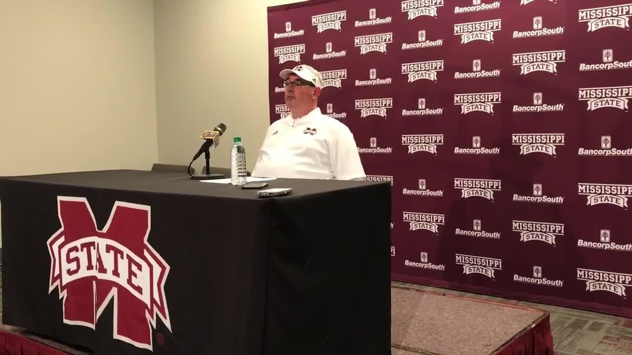 Mississippi State head coach Joe Moorhead gives his initial reaction to the Bulldogs' 23-9 win over No. 9 Auburn.