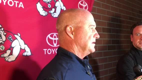 Fresno State coach Jeff Tedford talks about the Bulldogs win over Nevada on Saturday night