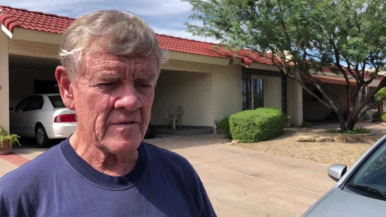 Don Ekstrand describes being woken up by a lightning bolt which struck his house, igniting an attic fire Sunday morning.