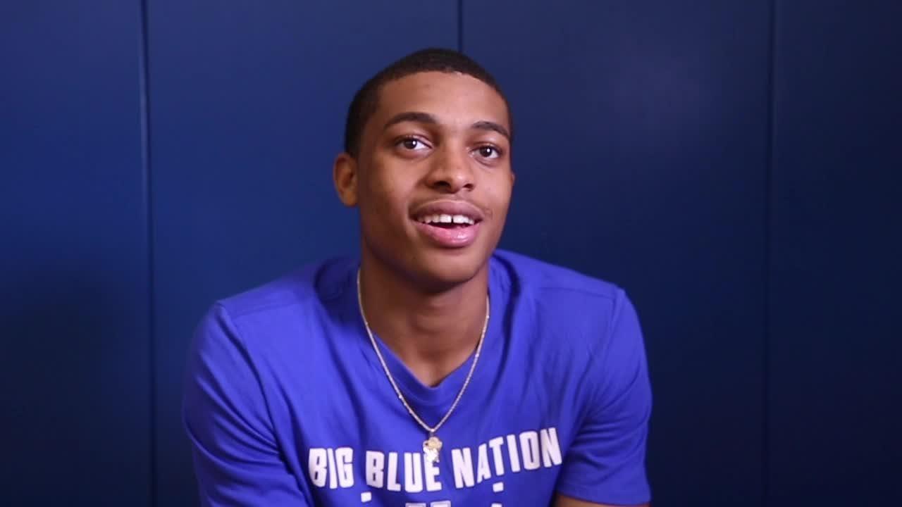 Kentucky's Keldon Johnson talks about 2018-19 basketball team