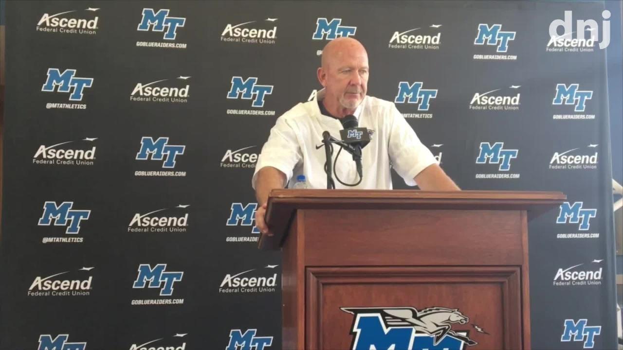 MTSU coach Rick Stockstill and Brent Stockstill preview the Florida International game