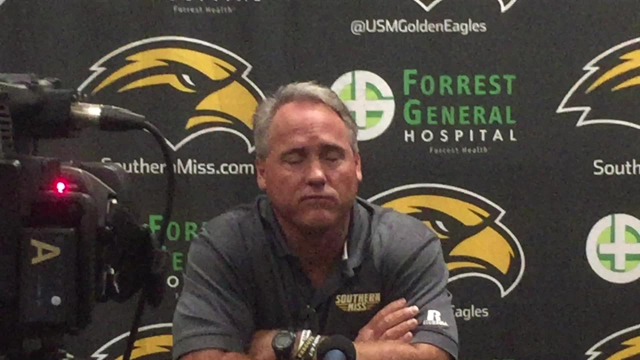 Southern Miss coach Jay Hopson spoke to the media on Monday about coming out of a bye week and preparing for North Texas, one of the best C-USA teams.