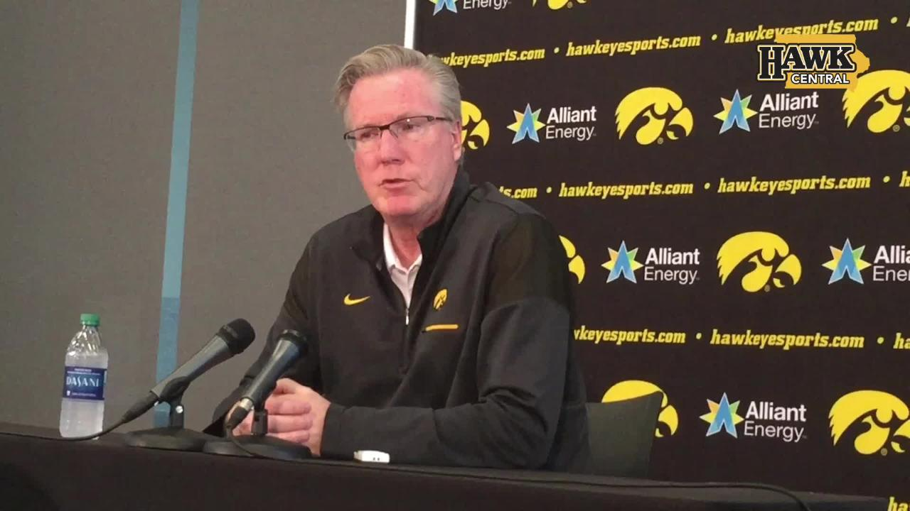 After a 14-19 season, Iowa men's basketball coach Fran McCaffery said it's time for the program to focus on defense.