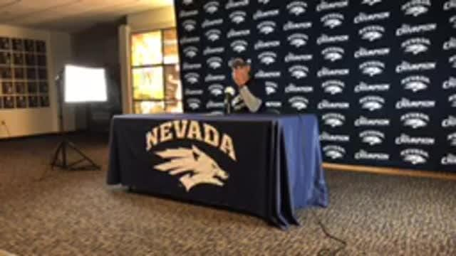 Nevada football coach Jay Norvell discusses importance of Boise State game to the Nevada program.