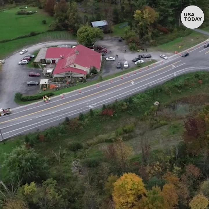 Drone video shows deadly limo crash site in upstate New York