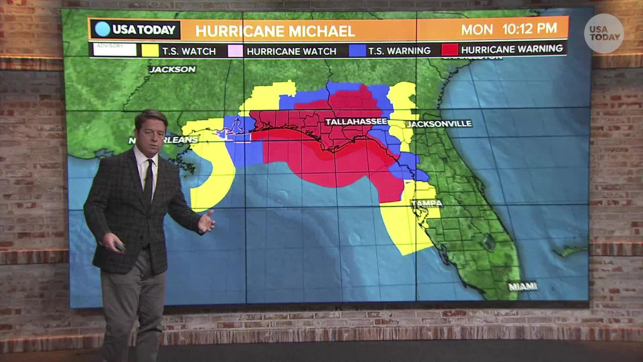 Hurricane Michael Florida Counties Under State Of Emergency