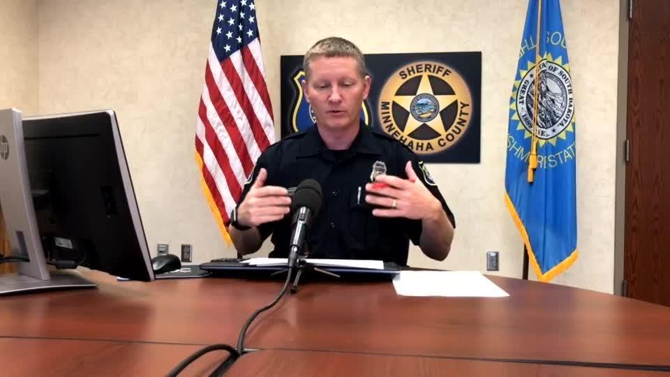 Police spokesman Sam Clemens goes over the call log on Tuesday