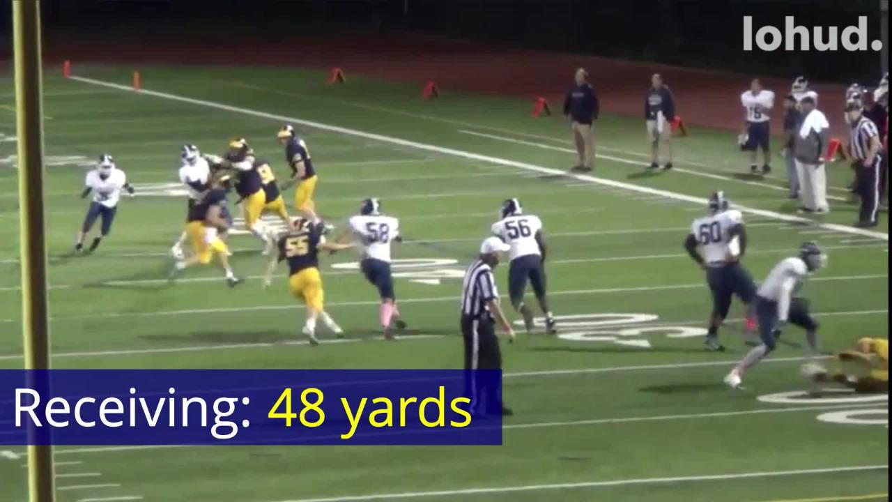 Pelham senior Kevin Coleman was voted as the winner of Lohud's Week 6 Football Player of the Week. Watch Coleman in action during his 301-yard night.