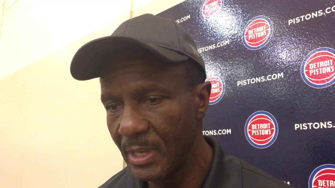 Detroit Pistons coach Dwane Casey said he saw a lot of good in loss to the Nets, but there was plenty to work on. Recorded Oct. 9, 2018.