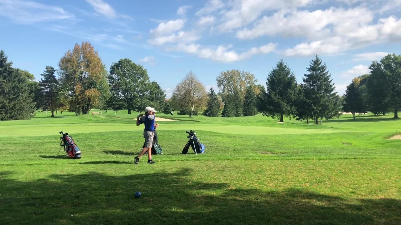 Vestal and Oneonta's Evan Sitts were repeat winners at the STAC golf championships Oct. 9, 2018 at Robert Trent Jones Golf Course in Ithaca.
