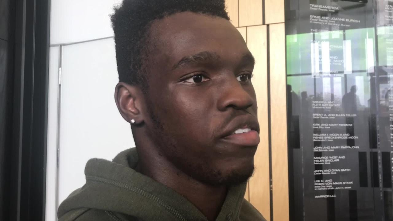 Iowa cornerback Michael Ojemudia assesses the performances of freshmen Julius Brents and Riley Moss. Hear what he said: