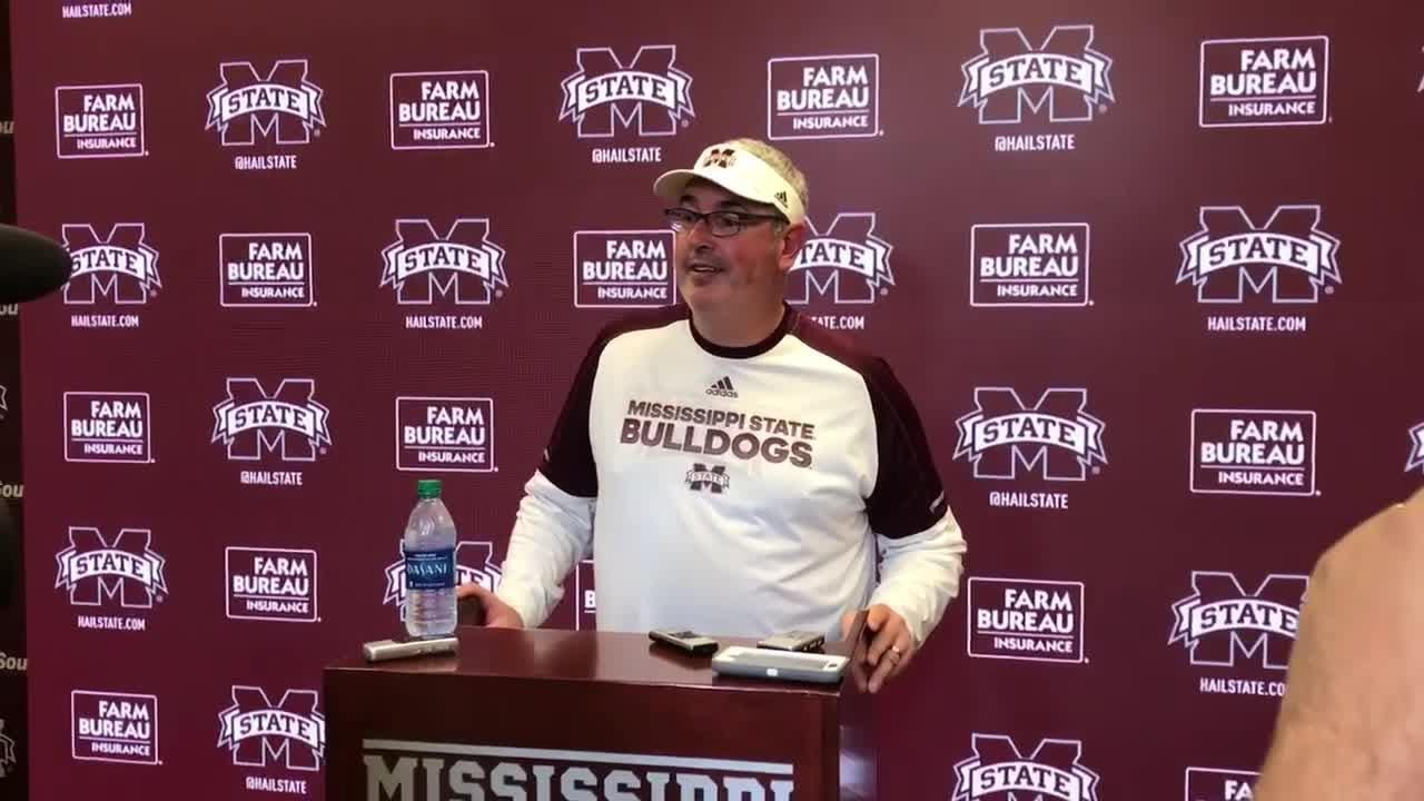 Mississippi State head coach Joe Moorhead discusses the Bulldogs' bye week and their No. 1 ranked scoring defense.