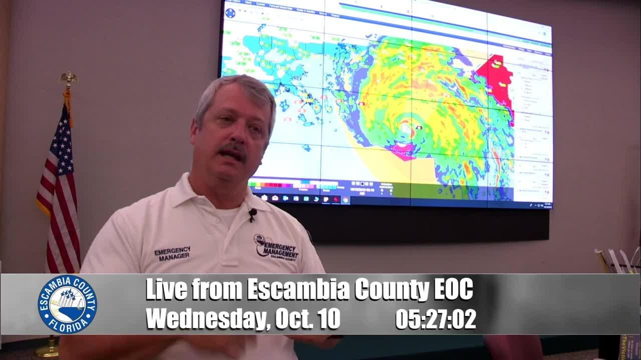 Emergency Management Chief John Dosh explains what Hurricane Michael's overnight shift to a Category 4 means for Escambia and Santa Rosa Counties.