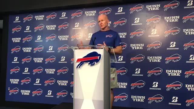 Buffalo Bills coach Sean McDermott from One Bills Drive.