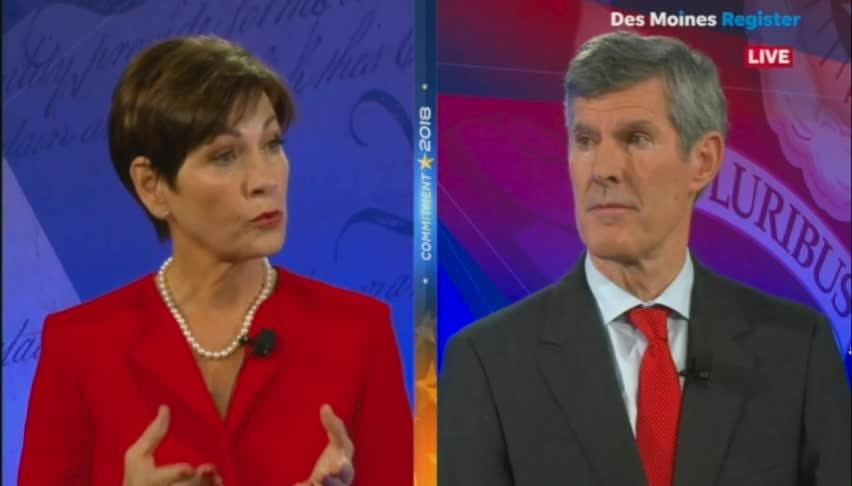 Fred Hubbell and Gov. Reynolds debate privatized Medicaid
