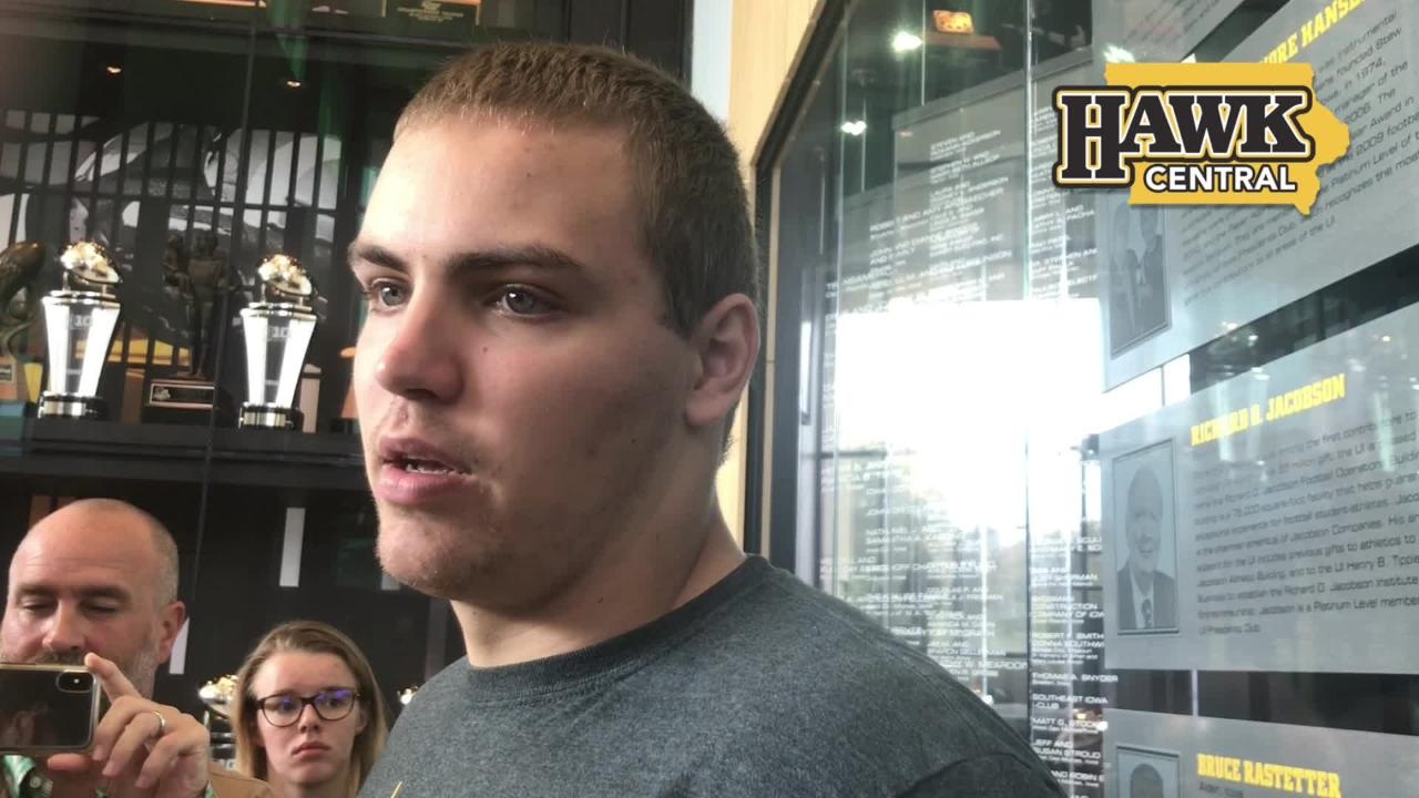 Iowa quarterback Nate Stanley on whether offense feels pressure to put up points