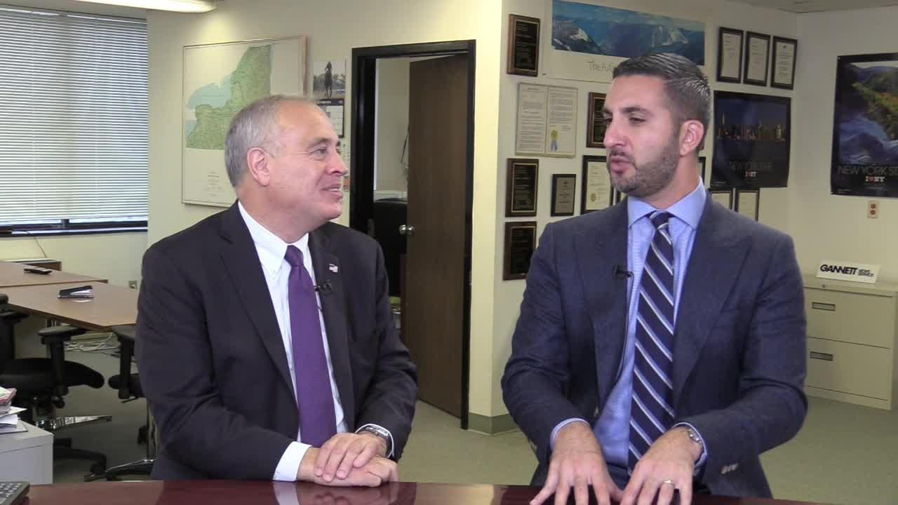 Tom DiNapoli, a Democrat who has been state comptroller since 2007, sat down for an interview with Albany Bureau Chief Joseph Spector on Oct. 11, 2018.