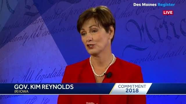 Citing a ranking from U.S. News, Iowa Gov. Kim Reynolds said Iowa is number one in the country.