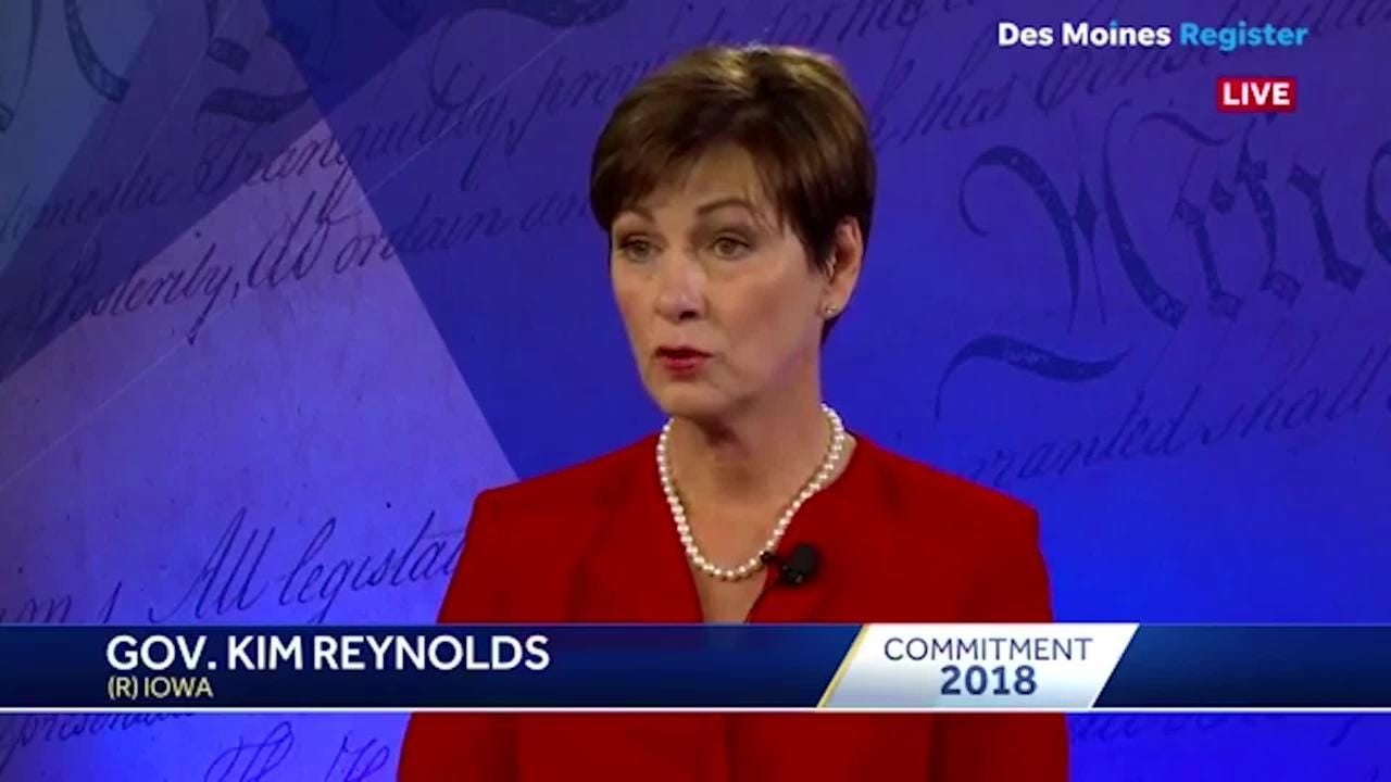 Iowa Gov. Kim Reynolds said 39 other states in the country have switched to privatized healthcare because of the cost savings and quality.