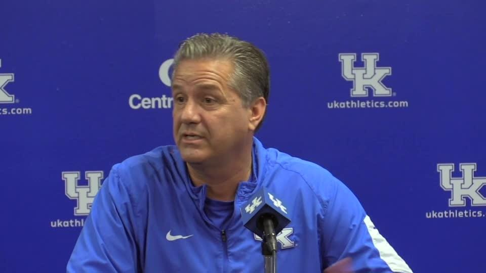 UK's John Calipari doesn't think having Rick Pitino talk to his team is a good idea, but Cal is up for doing Pitino's podcast.
