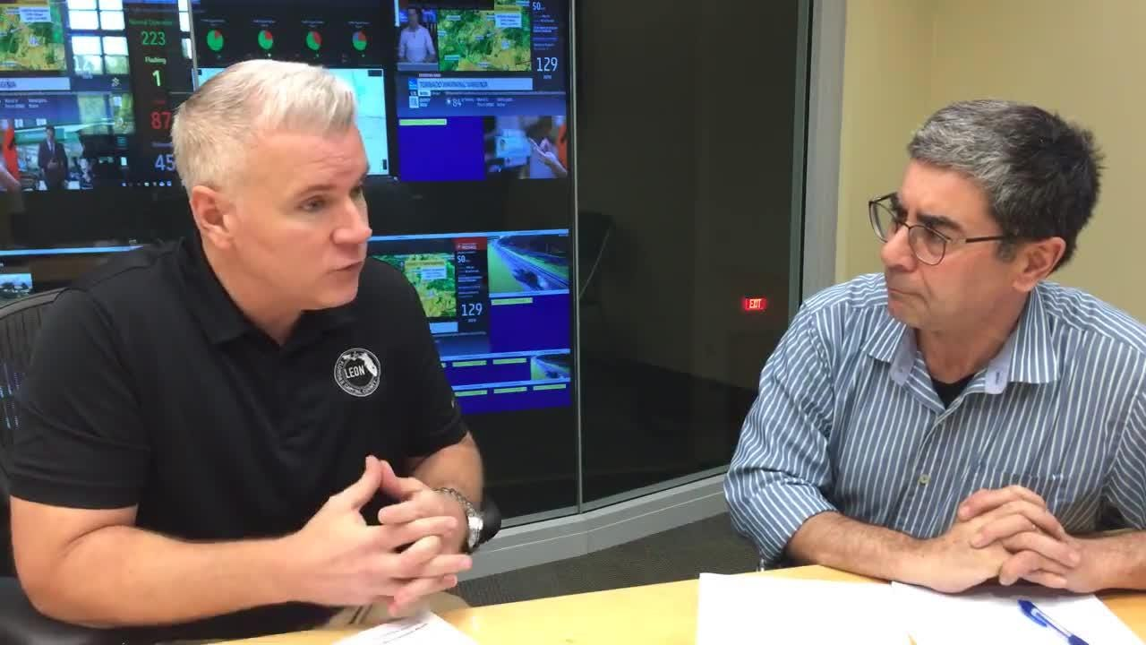 County Administrator Vince Long and reporter James Call talk Hurricane Michael recovery efforts a day after the storm hit.