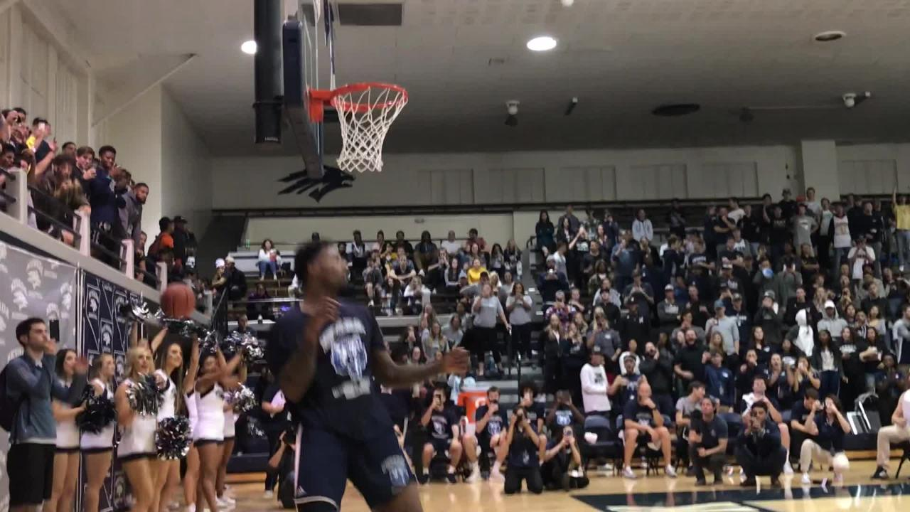 Nevada's Jordan Caroline won the dunk contest following the Pack's Thursday scrimmage
