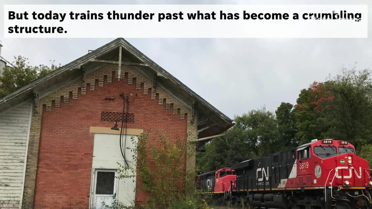 Built 133 years ago, Charlotte's Grand Trunk passenger station is falling apart, and needs saving. Supporters are looking into what that would take.