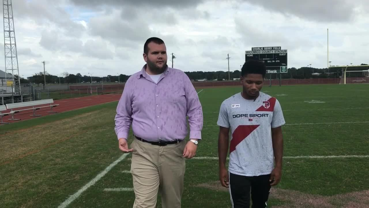 """In this episode of """"100 yards"""" Delmarva Now reporter Ricky Pollitt talks with Wi-Hi junior and Running Back Ronnie Satchell."""