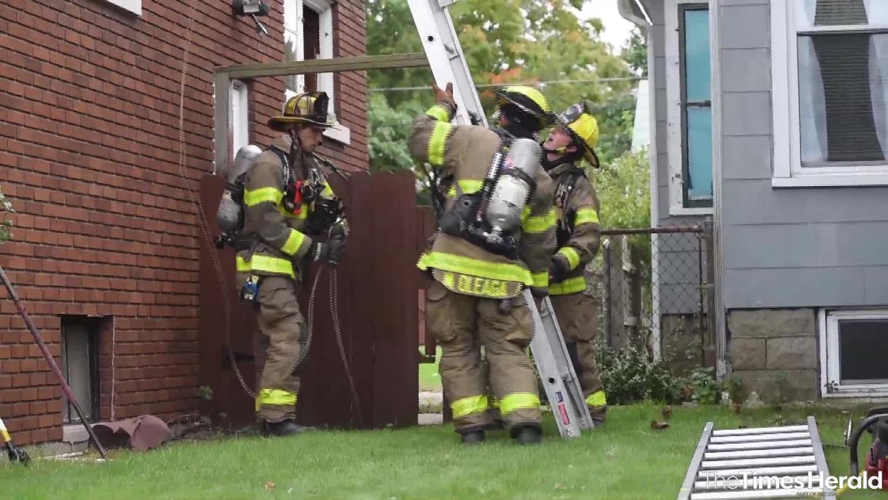Port Huron firefighters participated in a training exercise Friday, Oct. 12, 2018 at a vacant house in Port Huron.