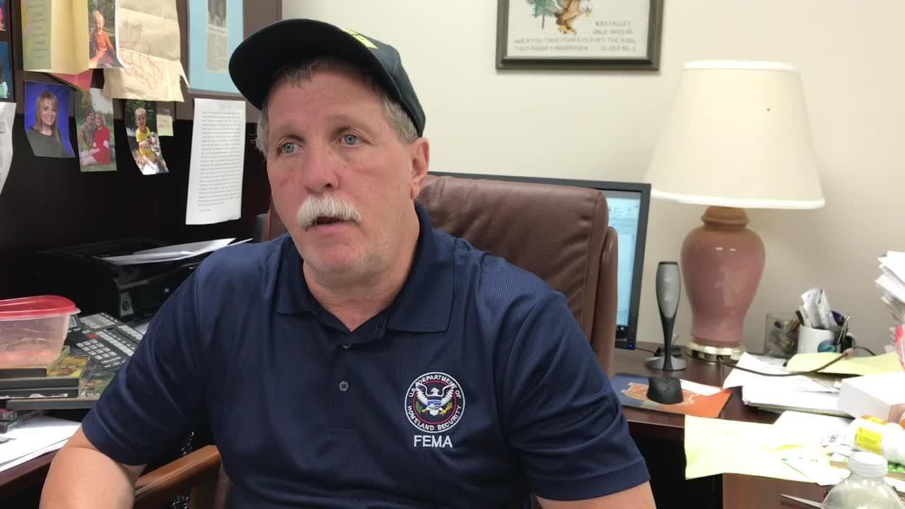 Jackson County Emergency Management Director Rodney Andreasen talks Hurricane Michael damage.