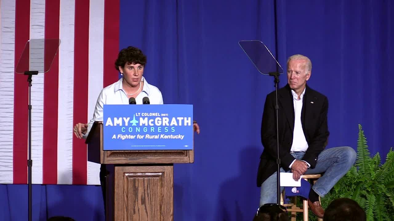 Amy McGrath explains how one issue in the 1980's convinced her to become a Democrat.